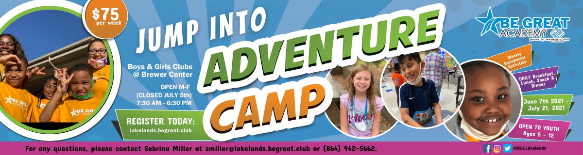 2021 Summer Adventure Camp in Greenwood, SC
